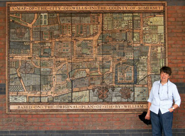 Mural with Map of Wells in the 18th Century