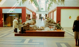 The Old Market Shopping Mall with the toads creating a feature in the centre of the mall.