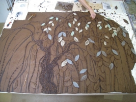The ash tree starts to take shape