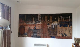 Mural set in its new surroundings
