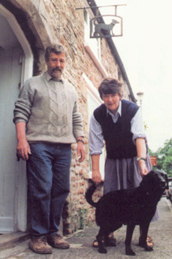 Philippa Threlfall, Kennedy Collings and dog