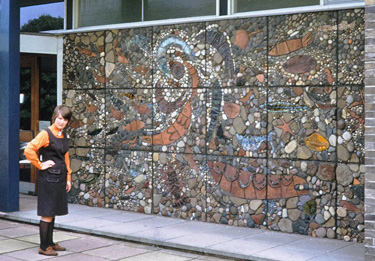 Philippa Threlfall and Loftus mural