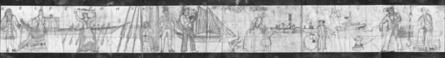 Original drawing of the Greenwich mural