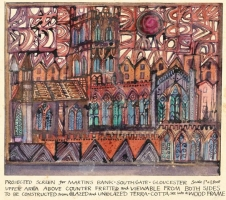Original design for Martin's Bank - Gloucester Cathedral