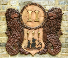East India Company Crest Cartouches