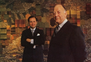 Chairman, Lord Beeching with Colin Corness, Deputy Chairman & Managing Director in front of CityScape
